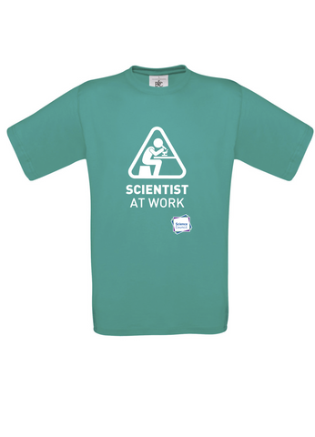 Scientist At Work (Female image) Turquoise T-Shirt