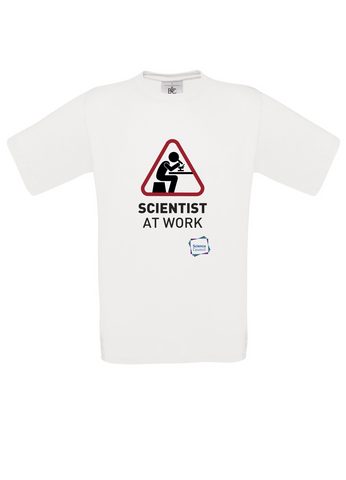 Scientist At Work (Female image) White T-Shirt