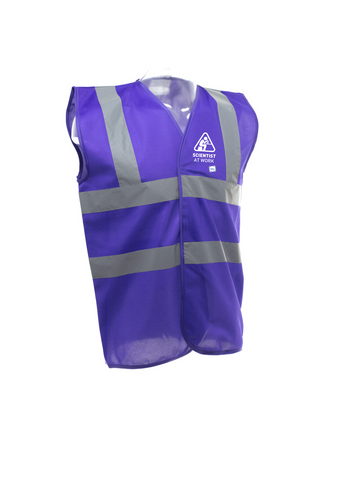 Scientist At Work (Female Image) Purple Hi Vis Vest
