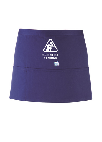 Scientist At Work Purple Apron with Microscope Image