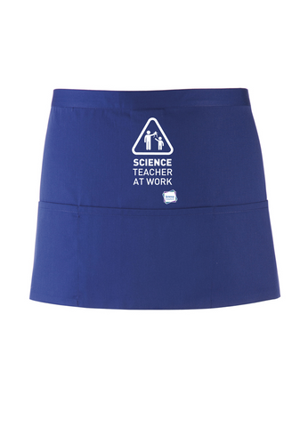 Science Teacher At Work Royal Blue Apron