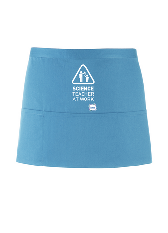 Science Teacher At Work Turquoise Apron