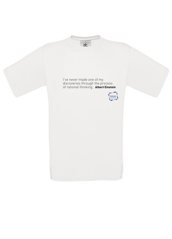 Albert Einstein-Rational Thinking White T-Shirt