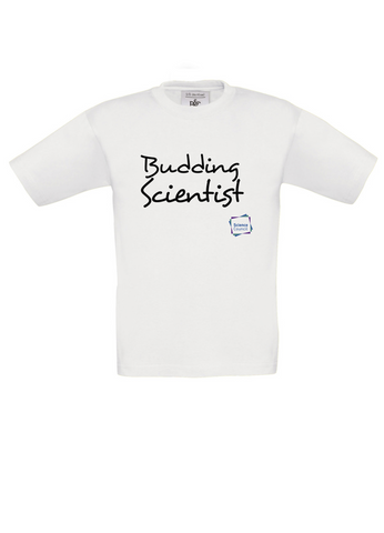 Budding Scientist White Kids T-Shirt handwritting