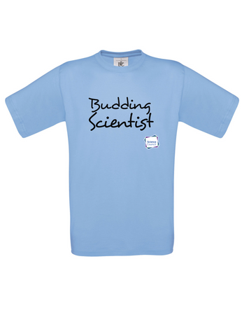 Budding Scientist Sky Blue Adults T-Shirt handwritting