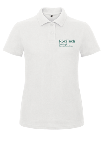REGISTERED SCIENCE TECHNICIAN WOMENS WHITE POLO SHIRT - Science Council