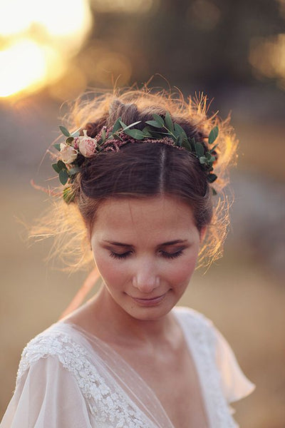 Floral hair vine bride