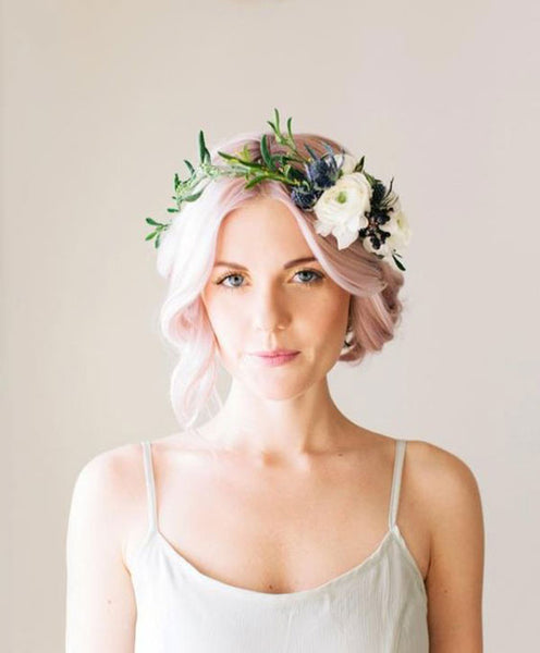 Floral crown inspiration for the modern bride