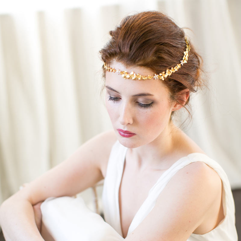 Victoria Millesime orchid gold forehead band