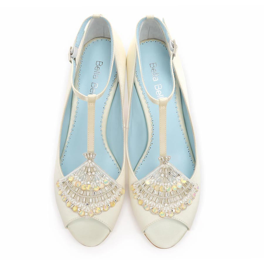 Layla Ivory Wedding Shoes By Bella Belle