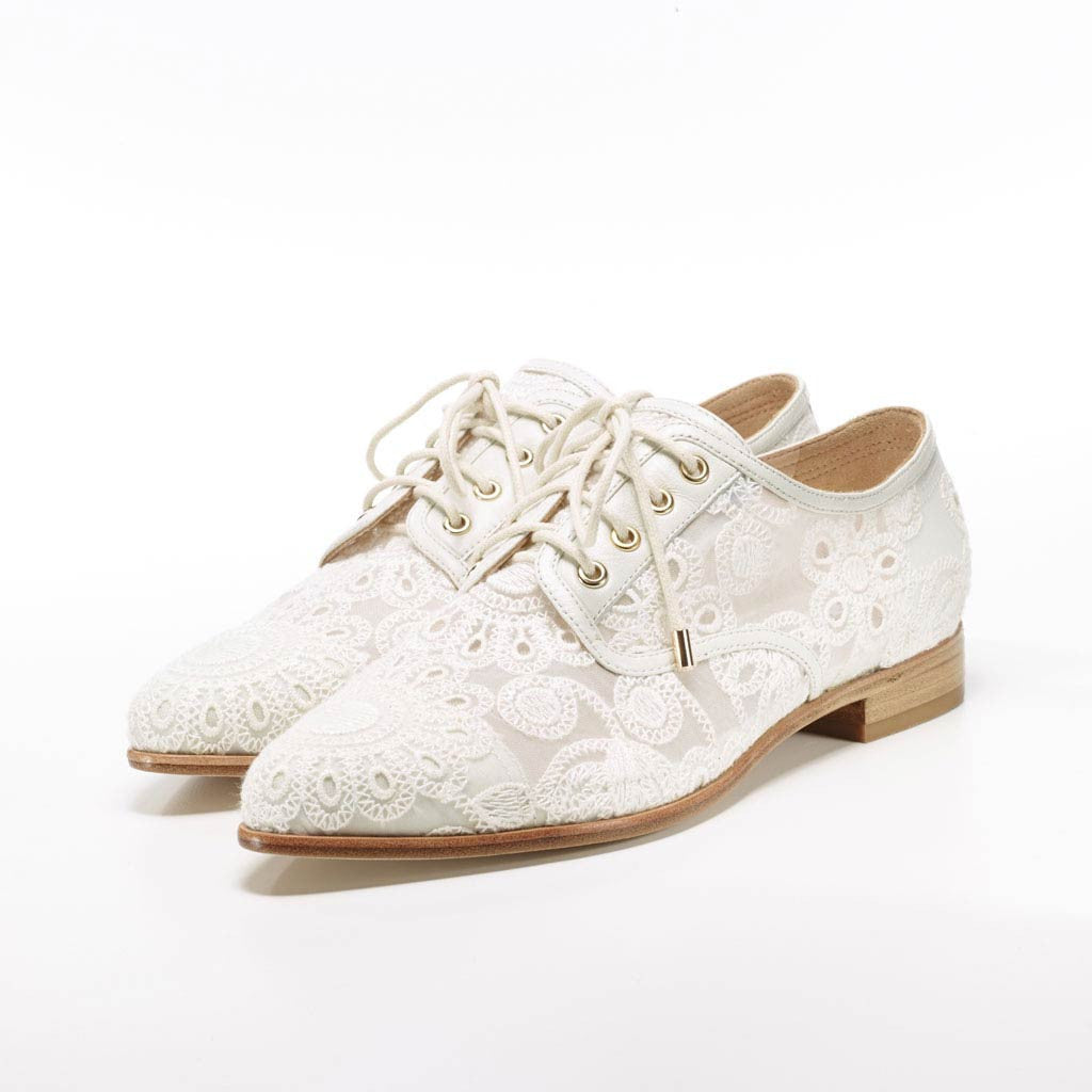 Bridal Shoes For Outdoor Wedding - Lisa Lace Brogues by Florence ...