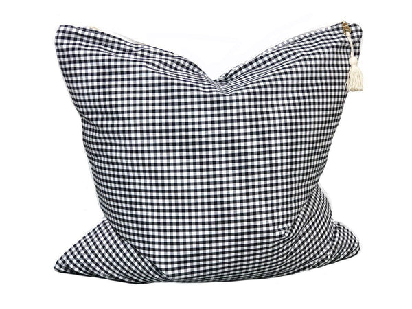 Throw Pillow in Camo and Black & White Gingham