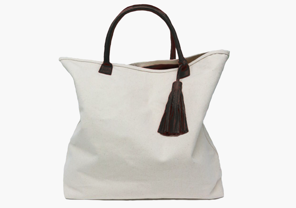 Canvas Tote in Dark Chocolate