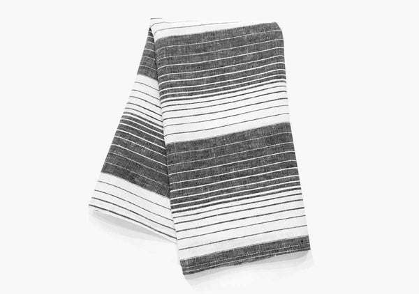 Cortina Hand Towels in Black (Set of 2)