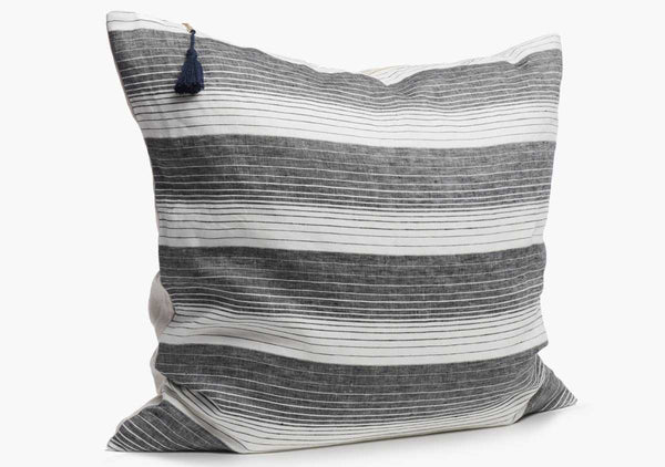 "Cortina Pillow In Black - 26"" x 26"""