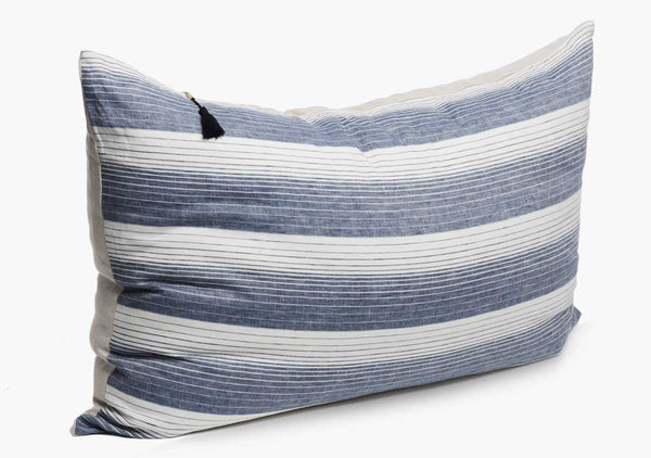Cortina Headboard Cushion In Blue | Hedgehouse