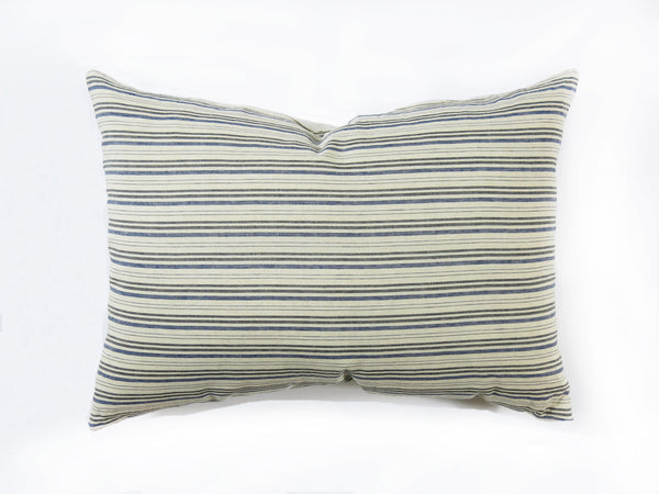 Deauville Headboard Cushion In Navy & Black | hedgehouseusa