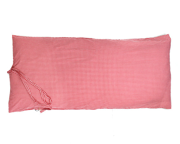 Gingham Throwbed in Red | Hedgehouse