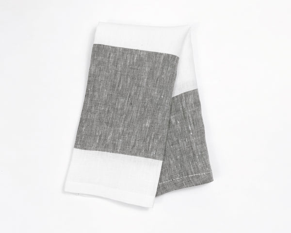 Harbour Island Napkin in Charcoal | Hedgehouse