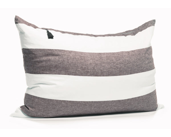 Harbour Island Headboard Cushion In Chocolate | Hedgehouse