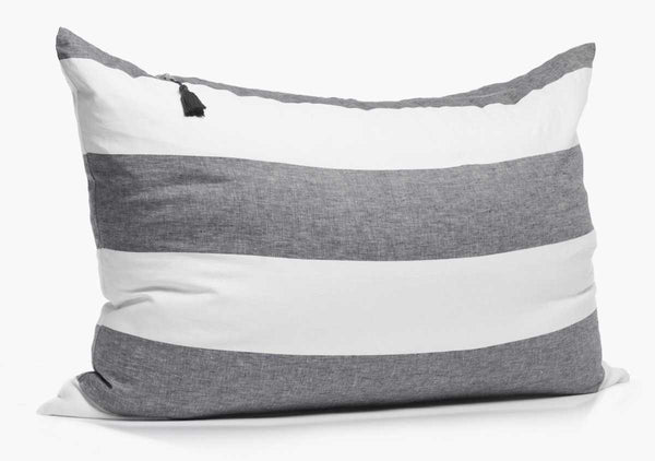Harbour Island Headboard Cushion In Charcoal | Hedgehouse