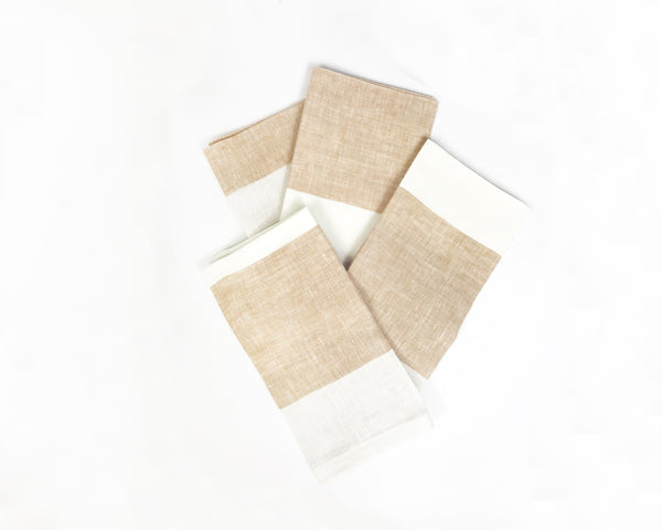 Harbour Island Napkin in Butterscotch | Hedgehouse