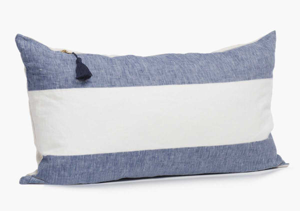"Harbour Island Pillow In Blue - 14"" x 26"""