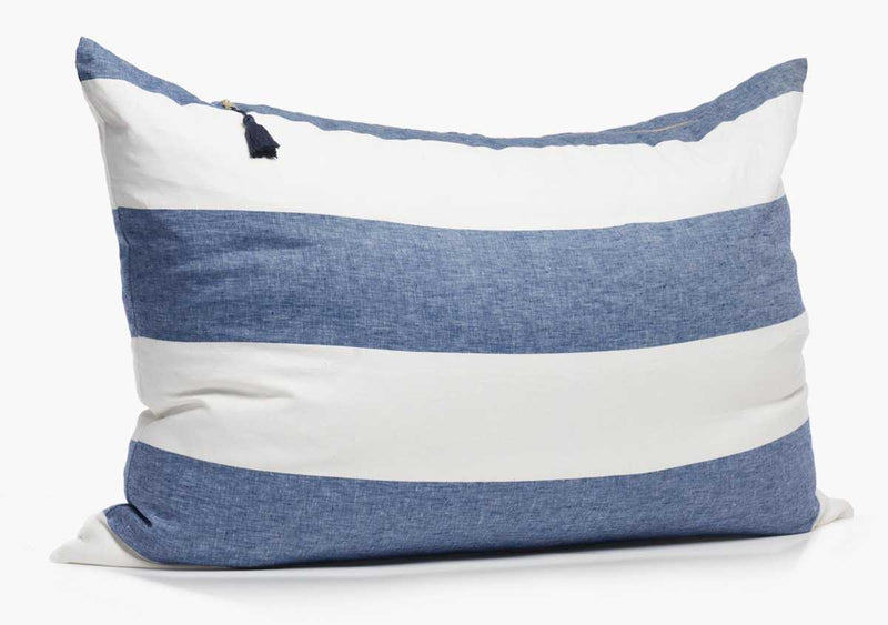 Harbour Island Headboard Cushion In Blue | Hedgehouse