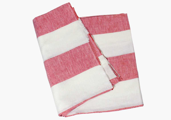 Harbour Island Blush Linen Beach Towel | Hedgehouse