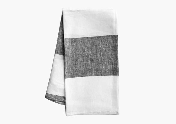Harbour Island Hand Towels in Charcoal (Set of 2)