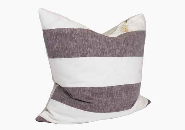 "Harbour Island Pillow in Chocolate - 26"" x 26"" 