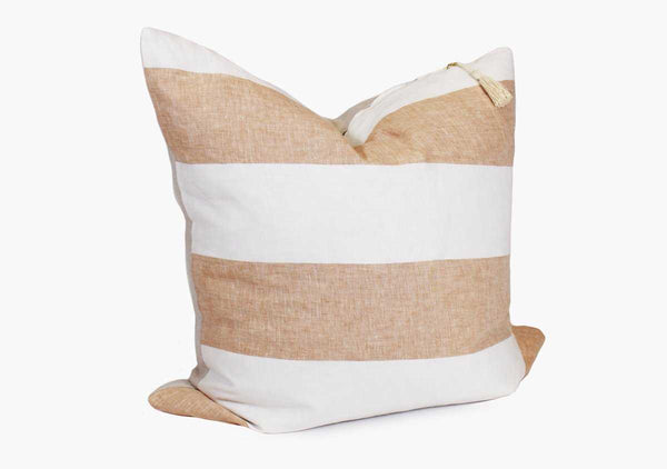 "Harbour Island Pillow in Butterscotch - 26"" x 26"" 