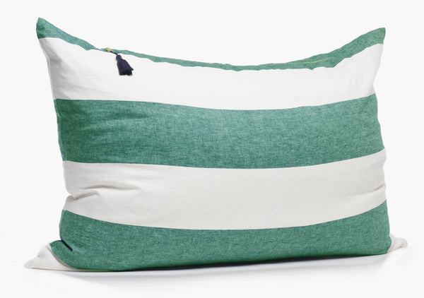 Harbour Island Headboard Cushion In Green | Hedgehouse