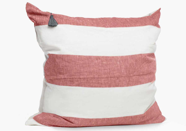 Harbour Island Pillow In Red - 26"