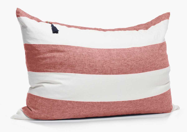 Harbour Island Headboard Cushion In Red | Hedgehouse