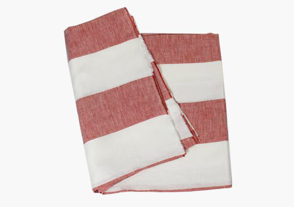 Harbour Island Red Linen Beach Towel