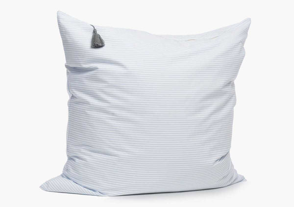 Islesboro Shirt Cloth Pillow In Light Blue - 26"