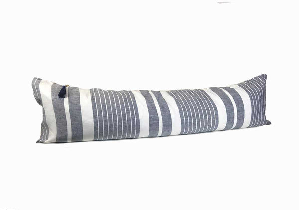 "Majorca Vieja Narrow Stripe Midnight Blue 14"" x 48"" Pillow"