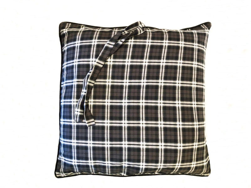 Mini in Black and Brown Plaid Flannel with Velvet Back