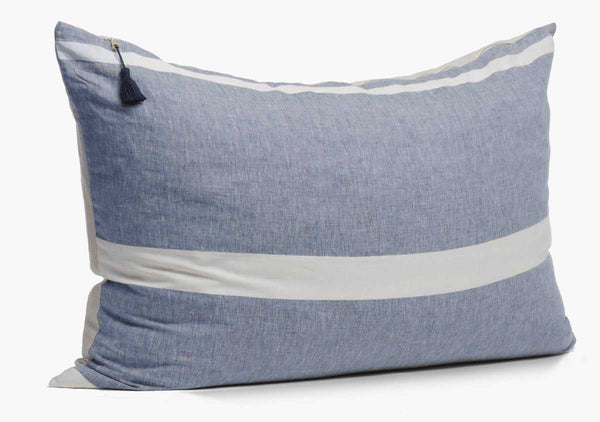 Majorca Blue Headboard Cushion | Hedgehouse