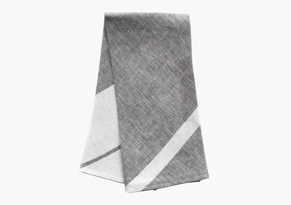 Majorca Hand Towels in Charcoal (Set of 2)
