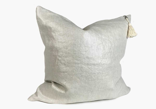 Throw Pillow in Metallic