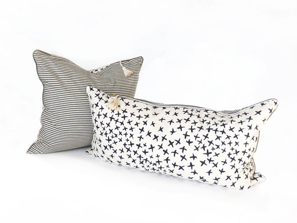 Normandy Pillows in Indigo with Toulouse Blue | hedgehouseusa