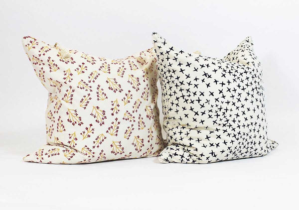 "Normandy II Pillow in Indigo Crosses - 26"" x 26"" 