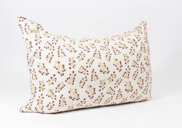 Normandy II Headboard Cushion In Garnet and Gold Branches