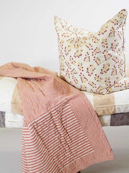 Quilted Throw in Toulouse Red | Hedgehouse