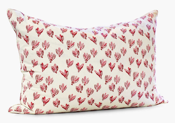 Normandy Headboard Cushion In Red Bows | Hedgehouse