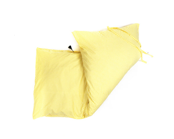 Gingham Throwbed in Yellow | Hedgehouse