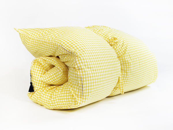 Gingham Throwbed in Yellow