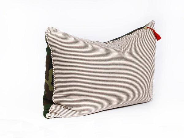 Headboard Cushion in Camo and Toulouse